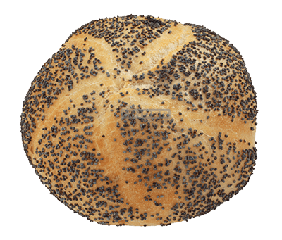 Kaiser-Mohnbrötchen 60g