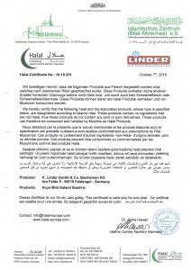 Halal Zertifikat 2016